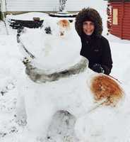 Casey, Iowa: That's what she did on her snow day!