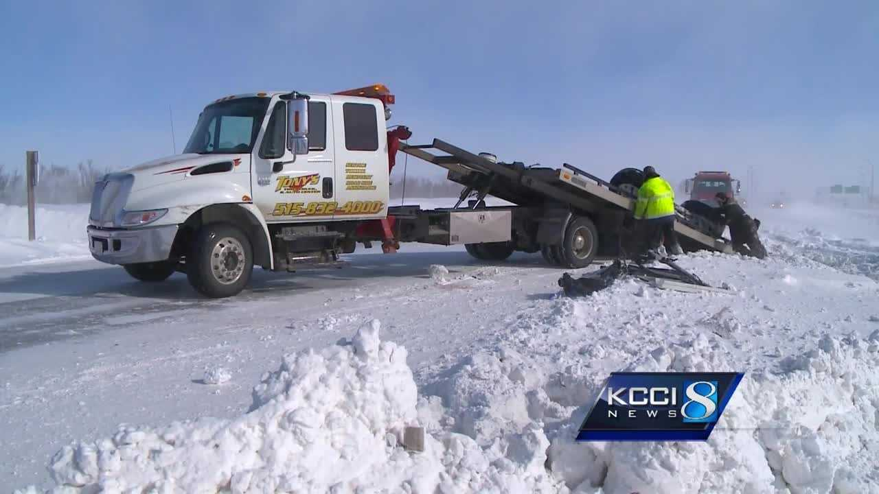 Road crews across Iowa's northern counties and along Interstate 35 continue the snow battle Tuesday.