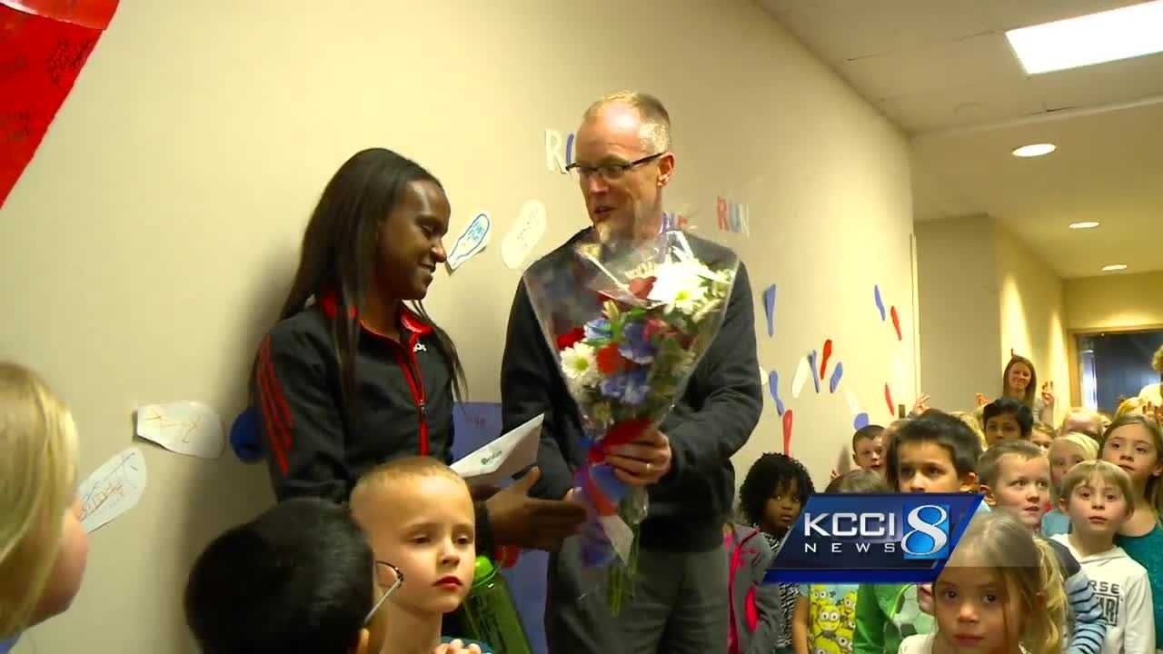 A teacher at Beaver Creek Elementary leaves for Olympic trials.