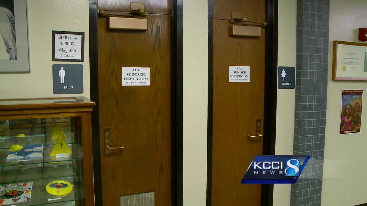 Roosevelt High School is now the first Des Moines public school to have gender-neutral restrooms.