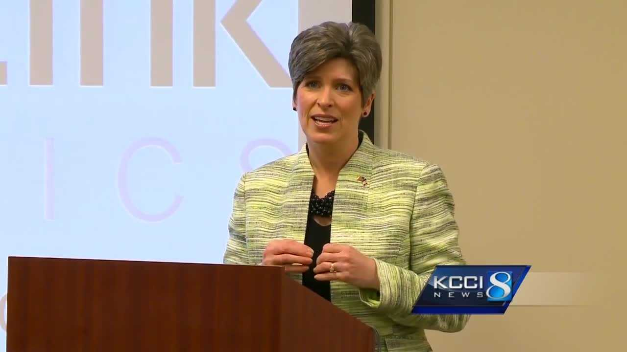 Iowa Sen. Joni Ernst announced Thursday that she will align herself with Republican colleagues in refusing to hold confirmation hearings.