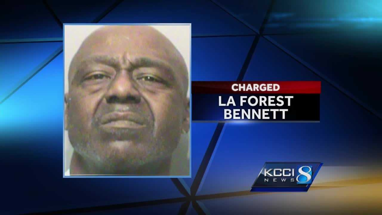 La Forest Bennett, 55, is in jail after a Saturday night crime spree across the city.