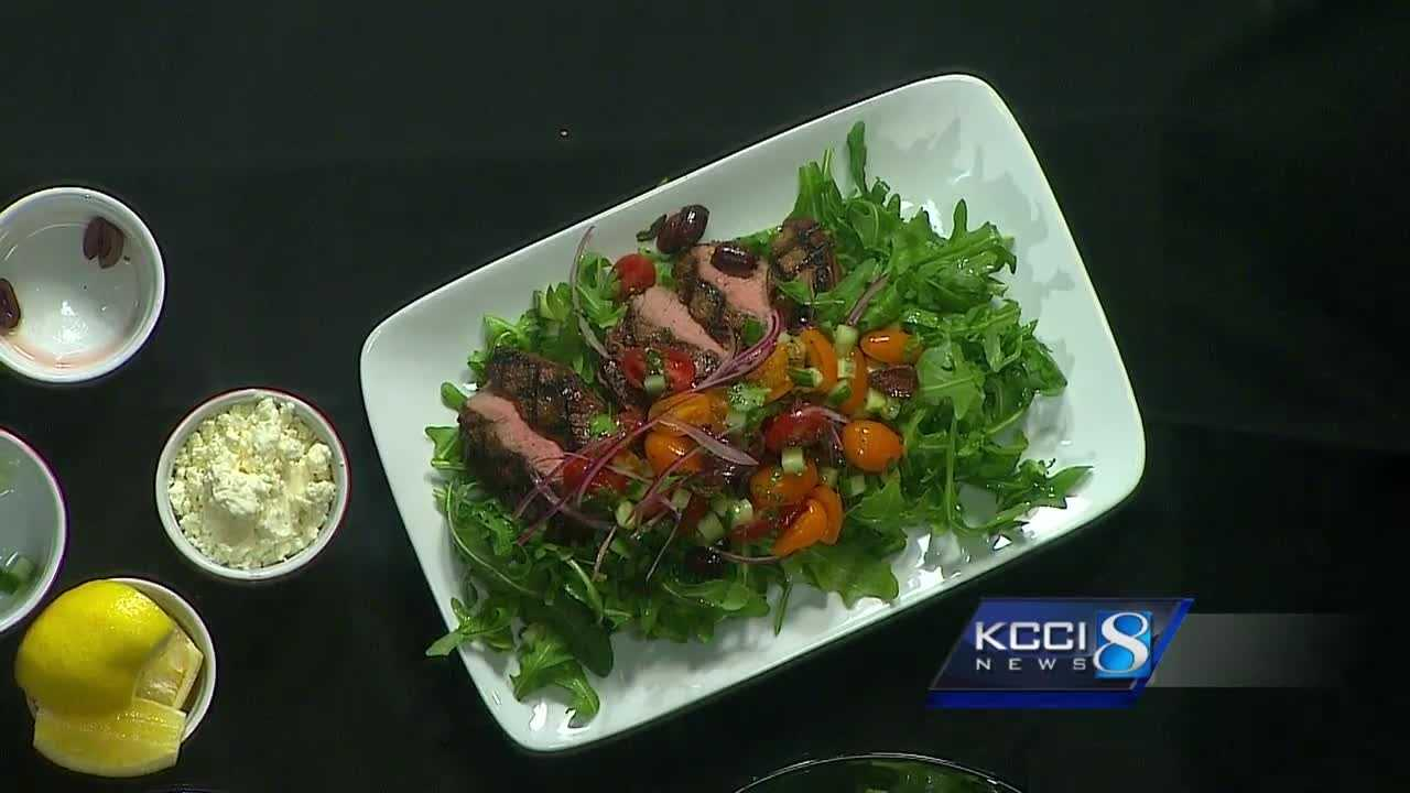 Chef Andrew cooks up a sirloin salad