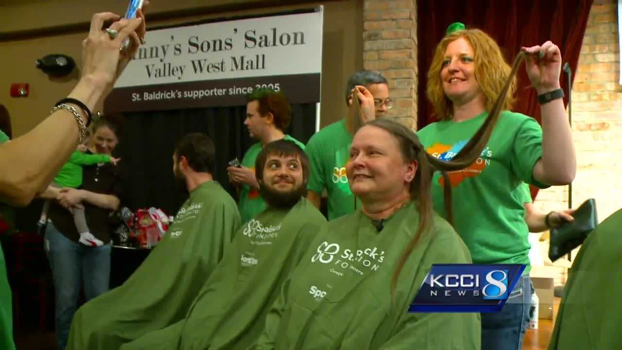 Farmers Mutual Hail Insurance Company hosted its 11th annual St. Baldrick's Foundation Iowa Chrome Domes Head Shaving event Tuesday.