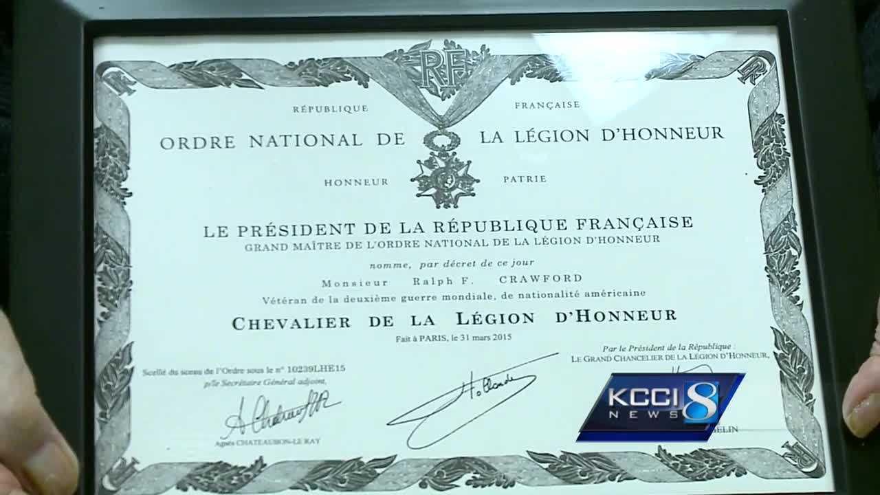 Iowa veteran receives highest honor in France