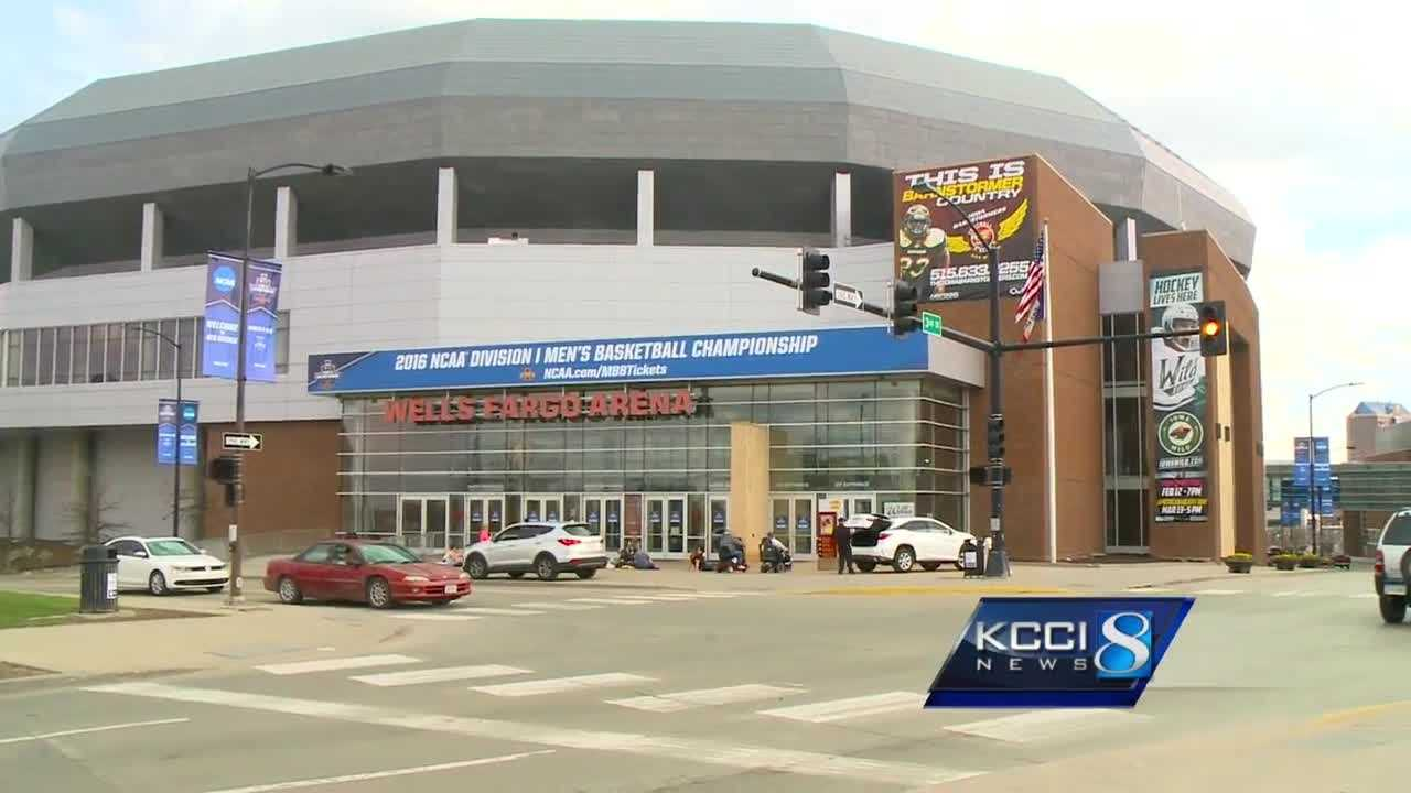 Des Moines will host top college basketball teams for the first and second rounds of the NCAA Division I Championship games.