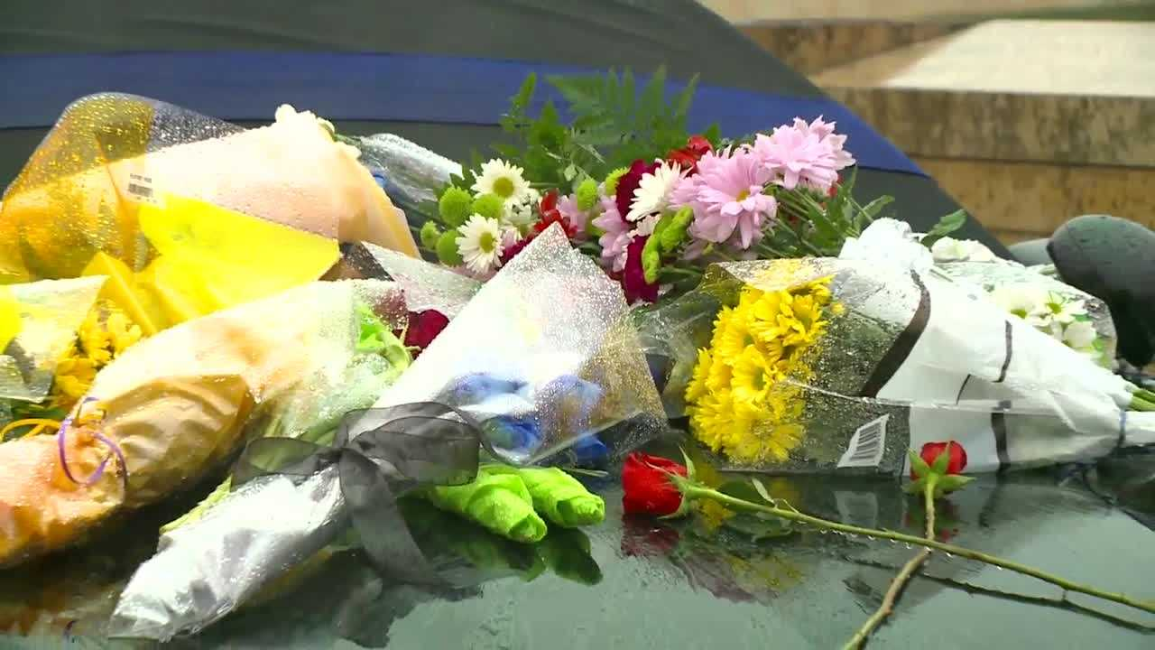police officers grieve
