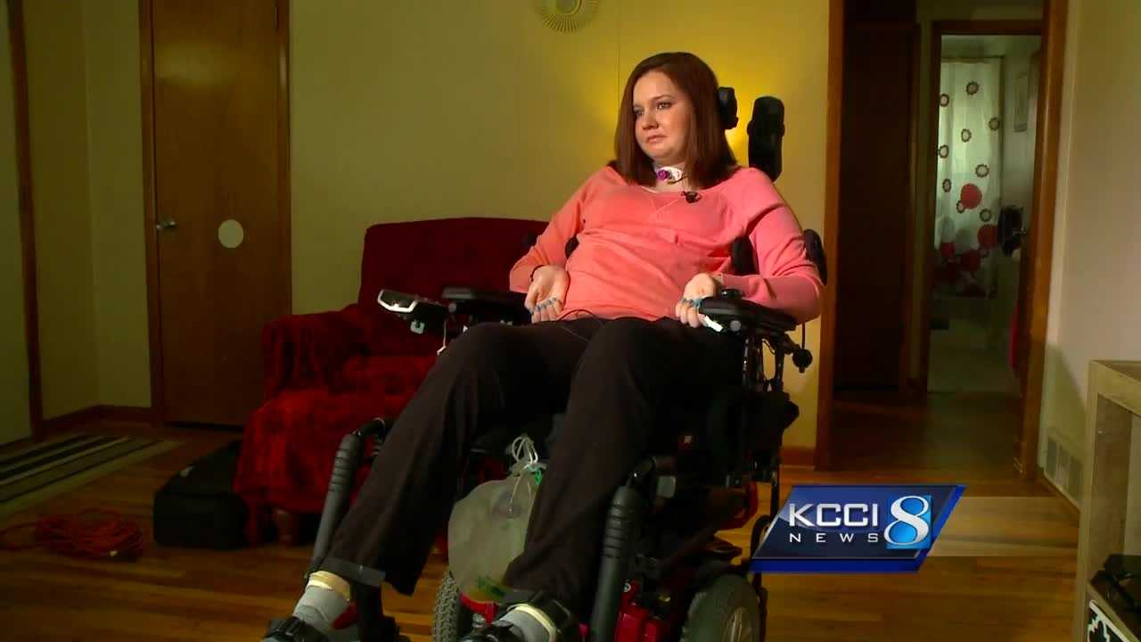 Nikki Faux, 28, has been paralyzed from the chest down since a car crash on October 29, 2014.