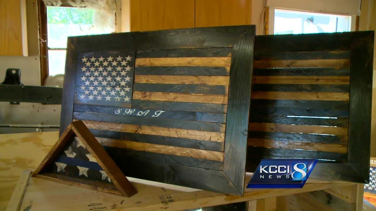 A Mitchellville man is gaining a lot of attention for making beautiful art out of old barn wood.