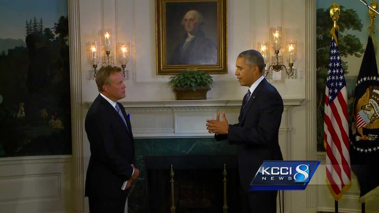 KCCI Anchor Steve Karlin was at the White House on Monday to interview President Barack Obama.