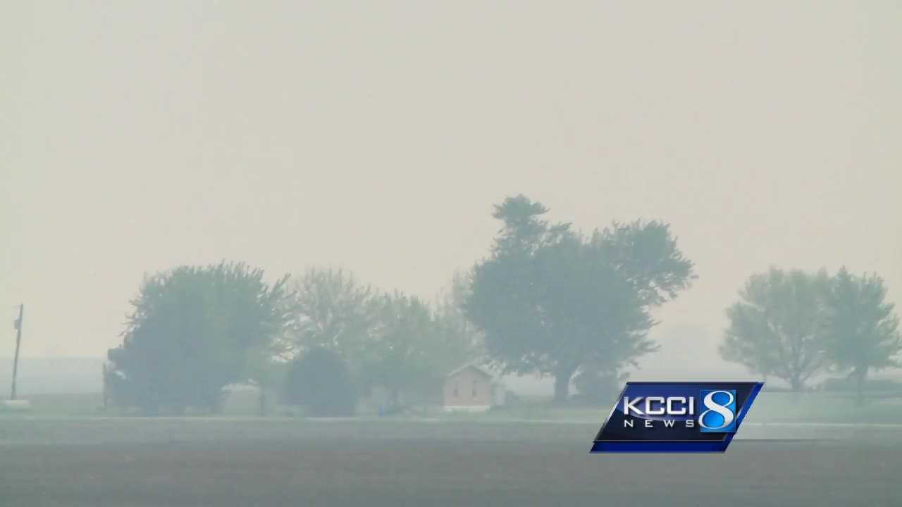 The DNR reported that air quality hit dangerous levels.