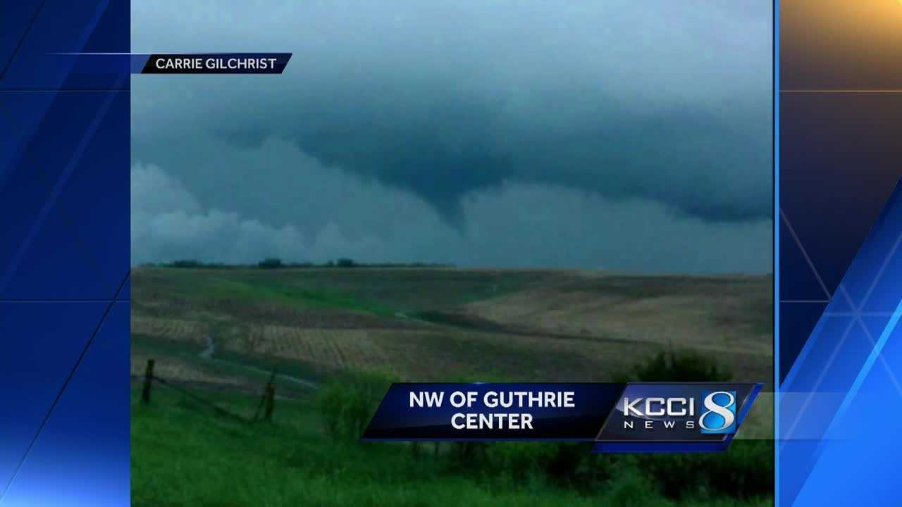 The National Weather Service says a tornado touched down in central Iowa.