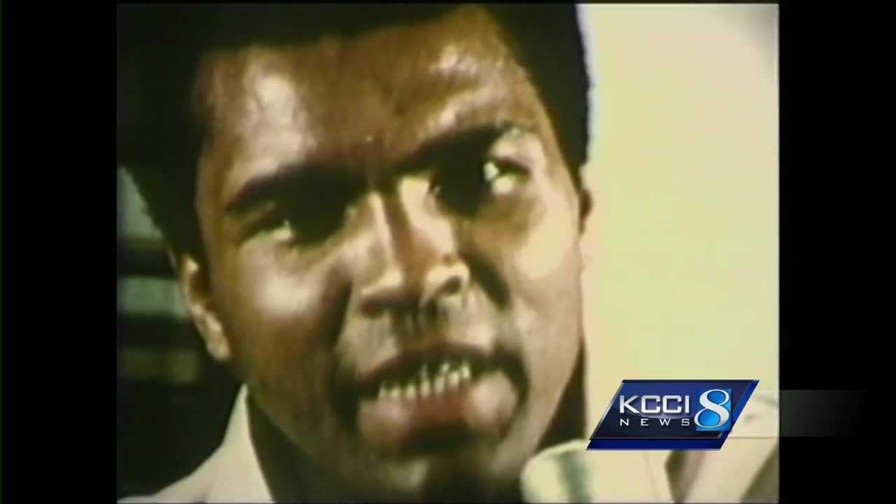 The late Muhammad Ali has some Iowa connections.