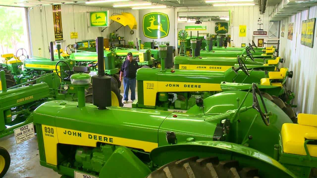 Dwayne Sunberg has been building his John Deere collection for decades.