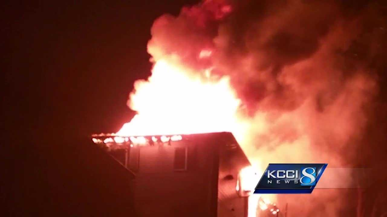 Fire crews in Ames are credited with rescuing several residents from an apartment fire early Monday morning.