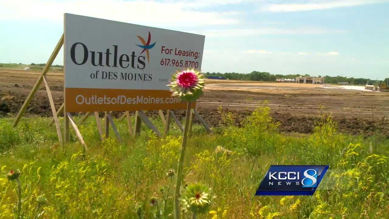 Construction is underway on the new, 300,000-square-foot Outlets of Des Moines in Altoona, Iowa.