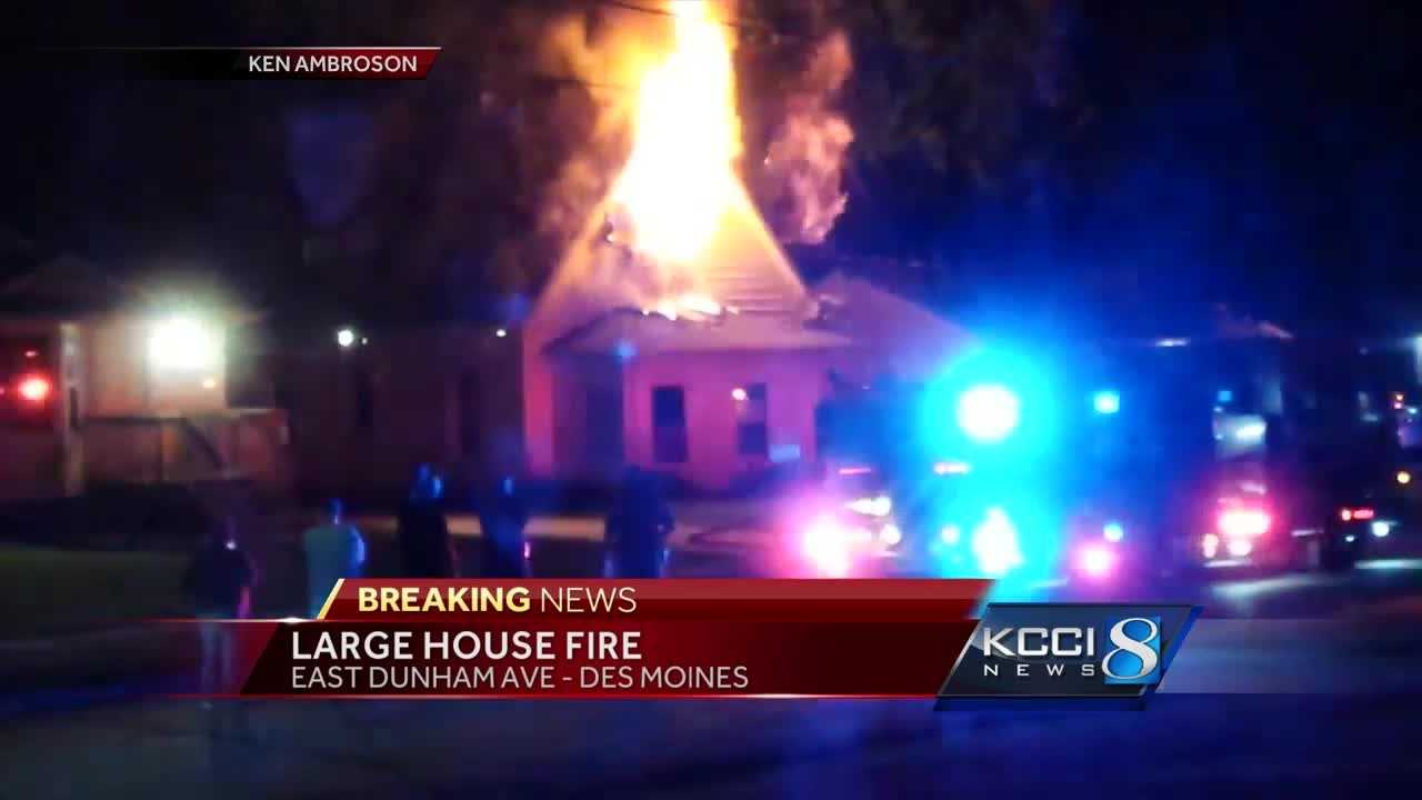 Authorities are investigating an overnight fire at a home in Des Moines.