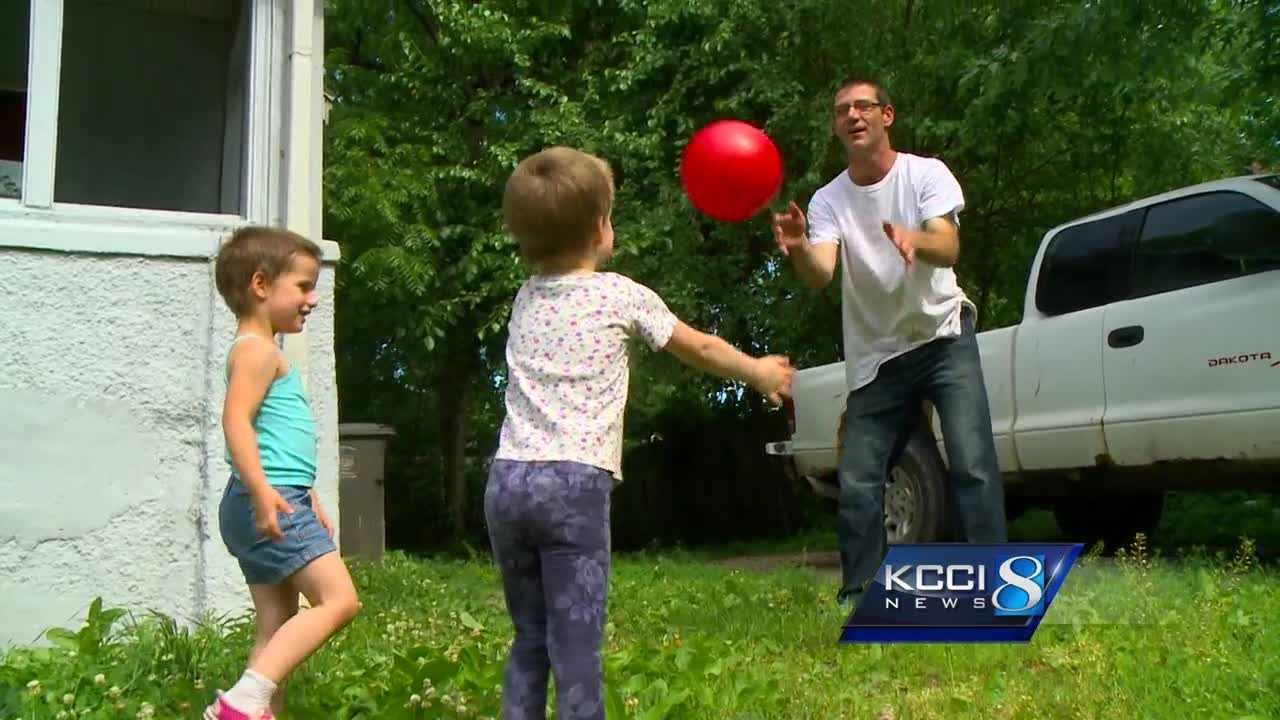 A family was forced to take cover Tuesday when gunshots rang out in a Des Moines neighborhood.
