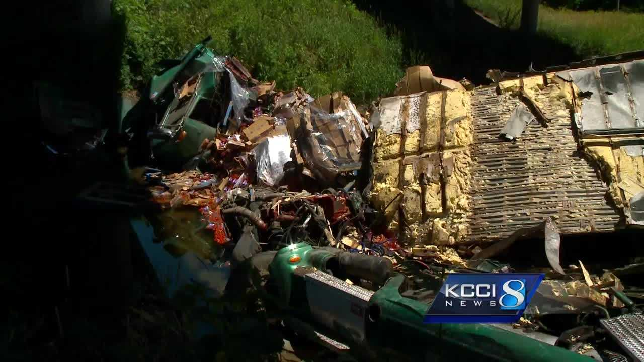 Rescue crews found an overturned semi and an injured driver Wednesday, but officials think the crash happened hours earlier.