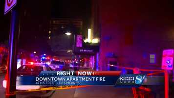 Crews responded to a three-alarm fire in the Court Avenue district late Wednesday evening.