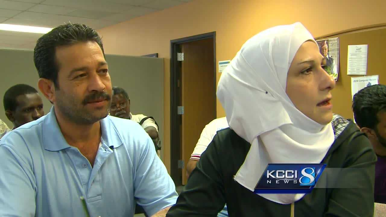 The first Syrian refugee family to arrive in Iowa is getting help to start their new lives here.