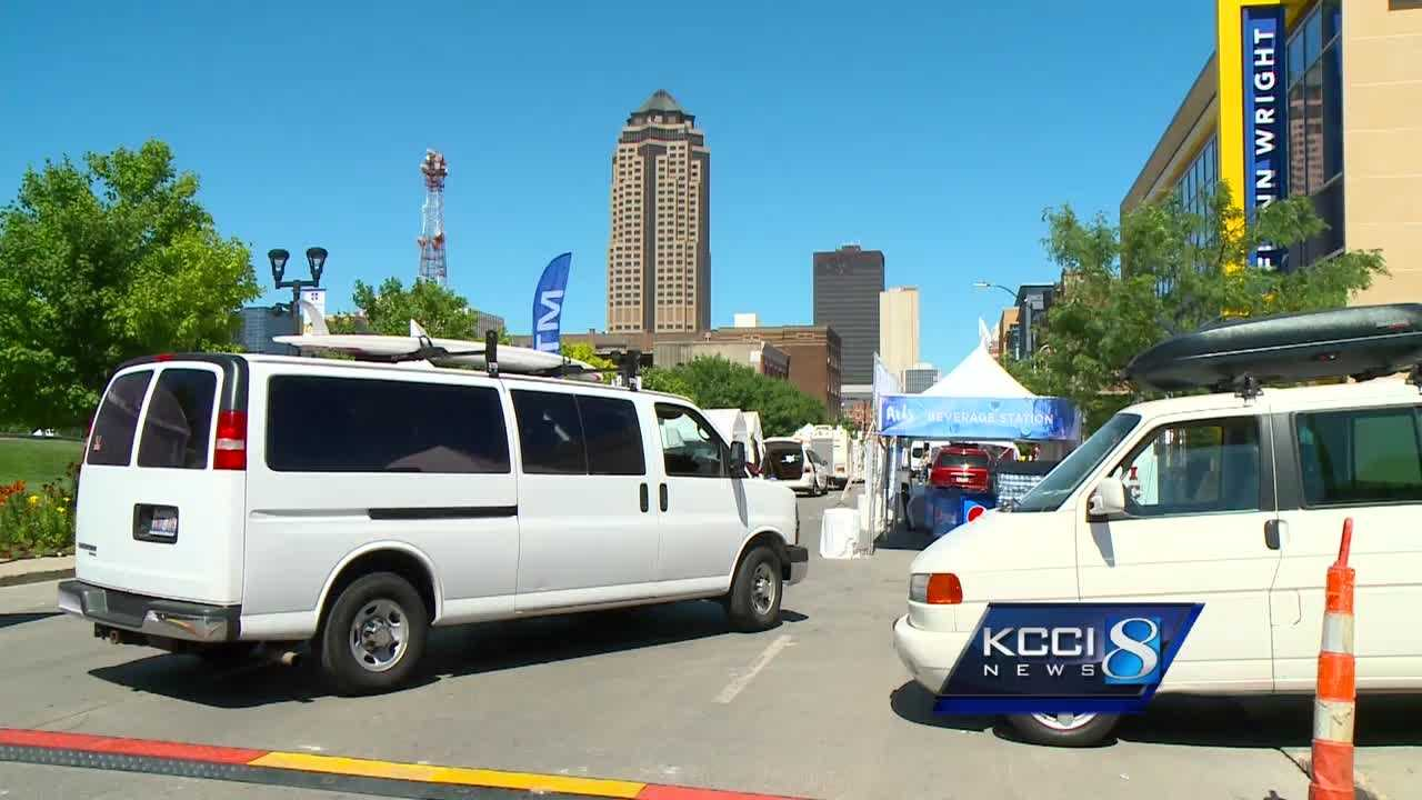 Officials in downtown Des Moines are preparing for heavy traffic this weekend...