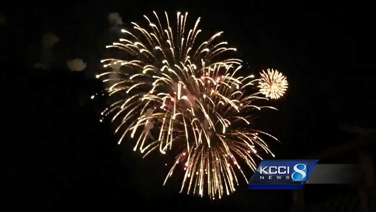 The Urbandale fireworks this year will start at 10 p.m. Monday on the west side of Walker Johnston Park.