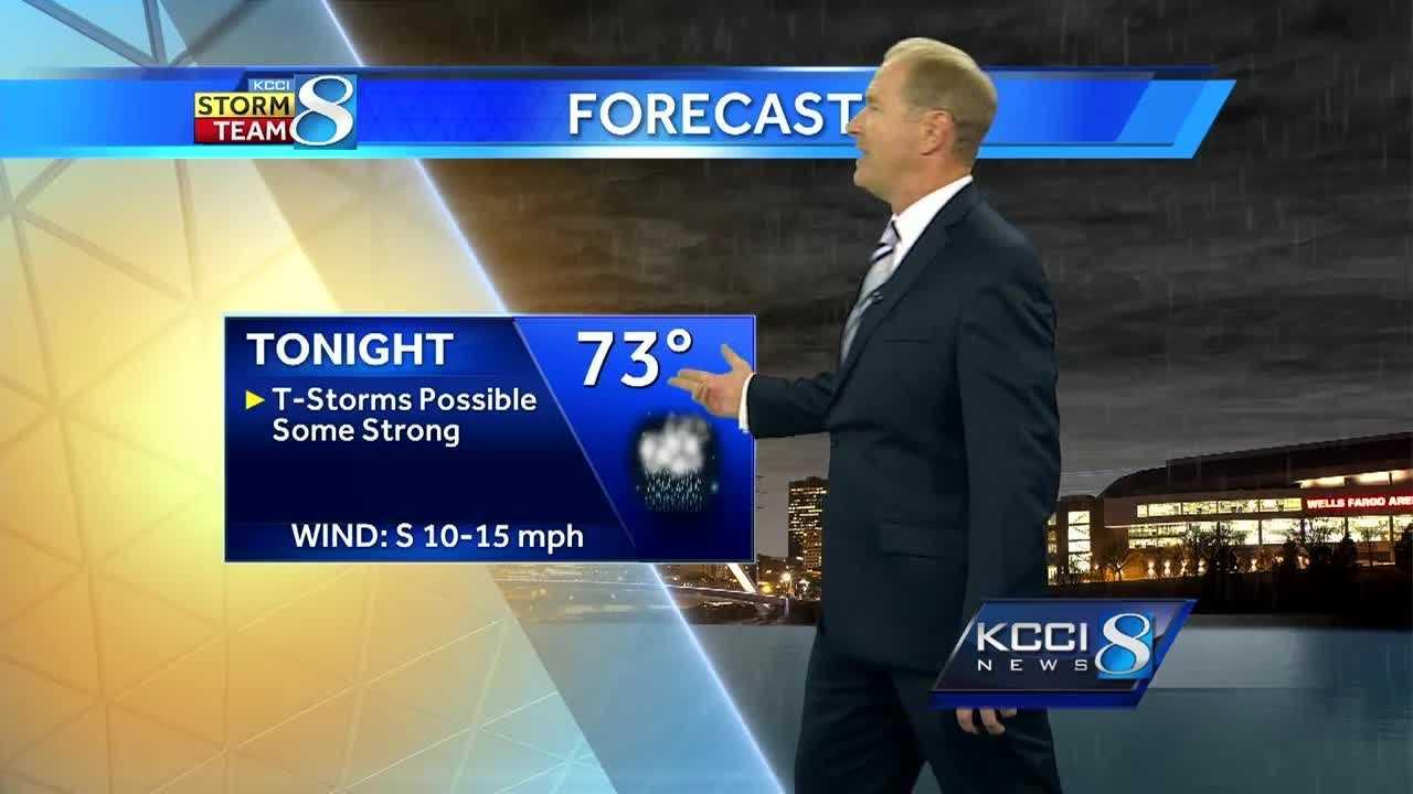 Weather forecast for Iowa.