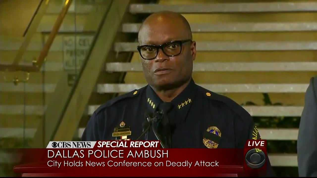 Dallas Police Chief David Brown provided new information and moving words about the deadly police shootings in Dallas overnight.