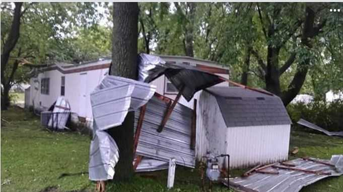 Storm damage from Eagle Grove, Iowa