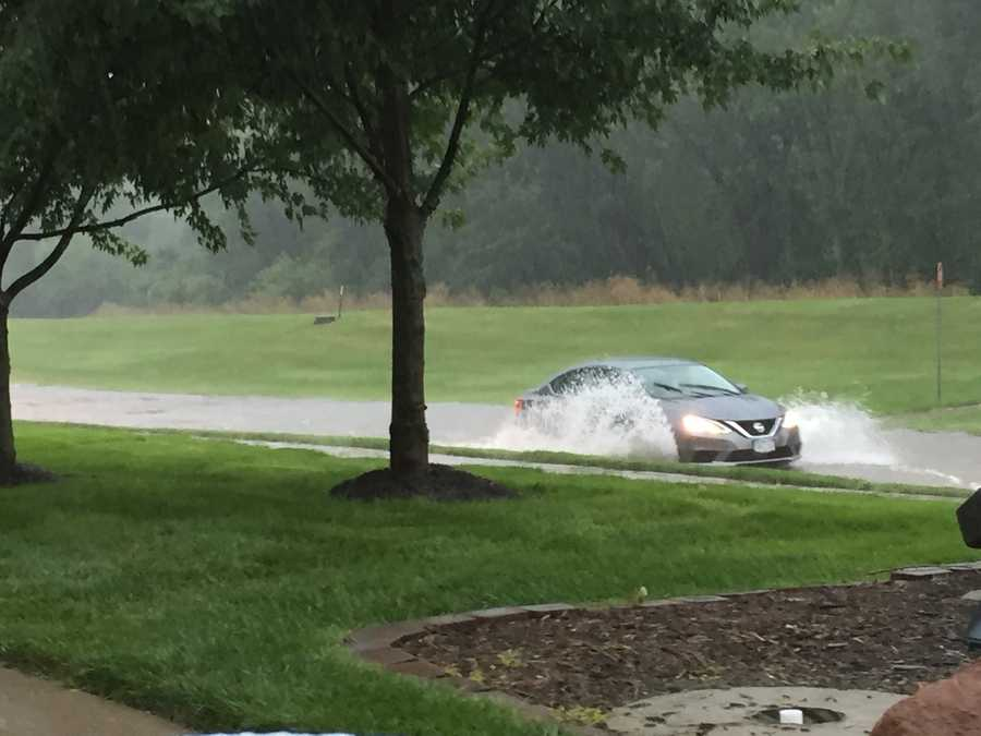 Flooding on Swanson Blvd. in Clive