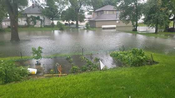 Flooding in the town of Palmer inPocahontas County.