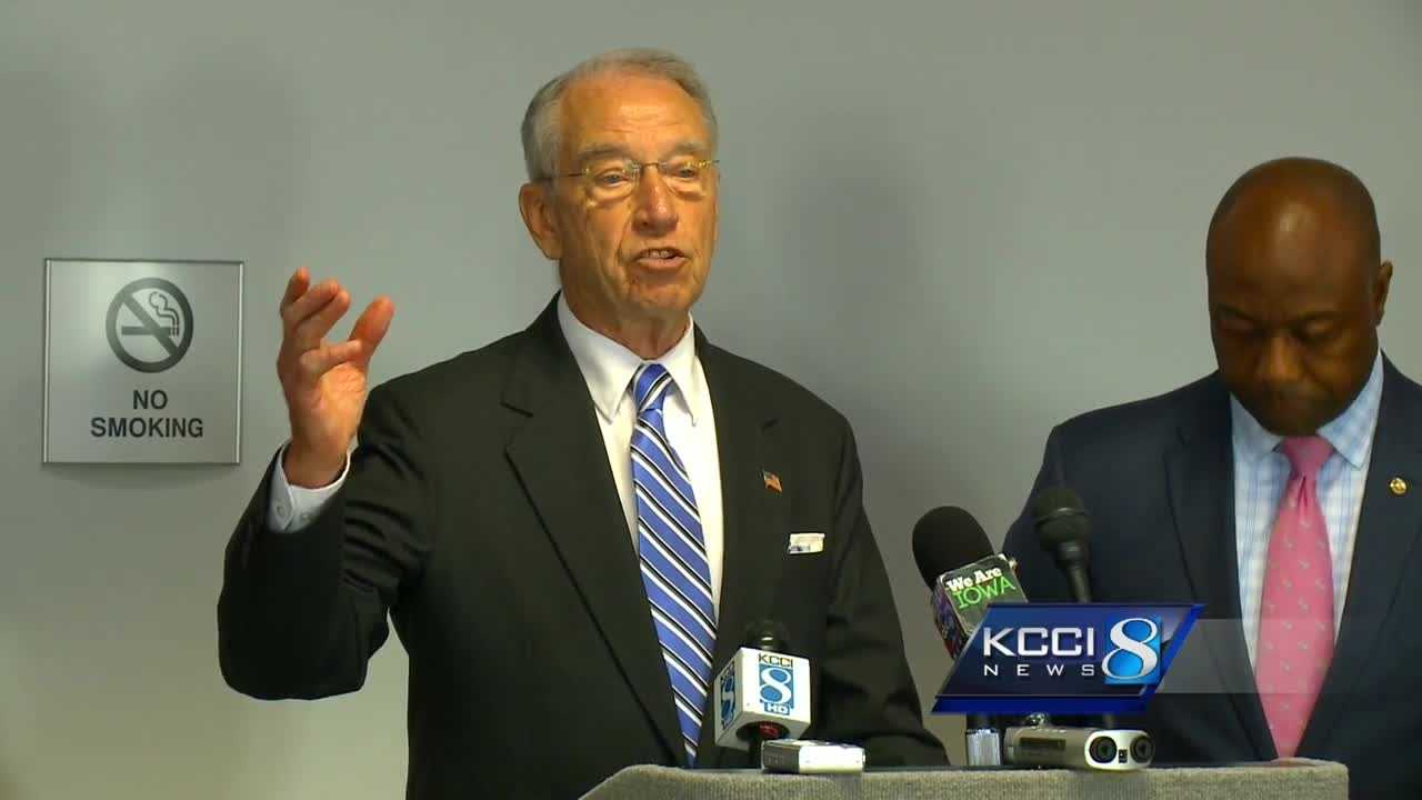 Iowa Sen. Chuck Grassley says his legislation will close the gap in sentencing that disproportionately affects African-Americans and help people in prison become productive members of society.
