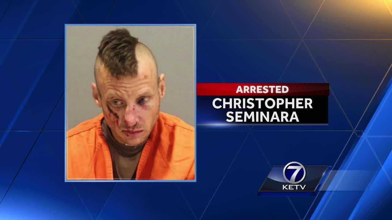 Omaha police landed another arrest, after following a suspect from above.