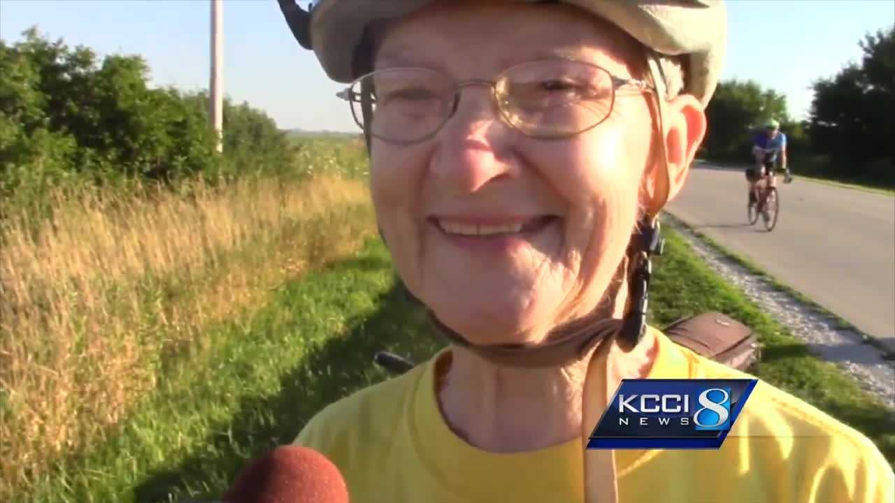 One RAGBRAI rider is getting a lot of attention on the RAGBRAI route.