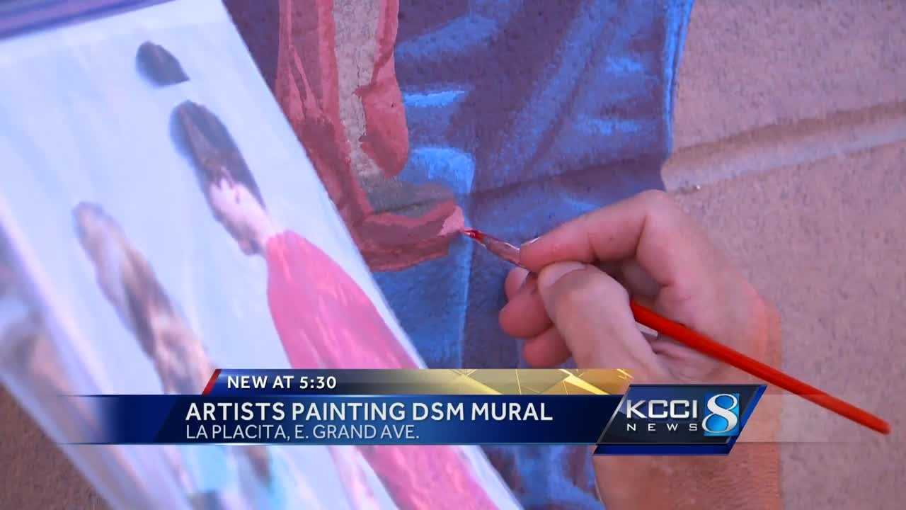 The mural won't be finished until at least September or October.