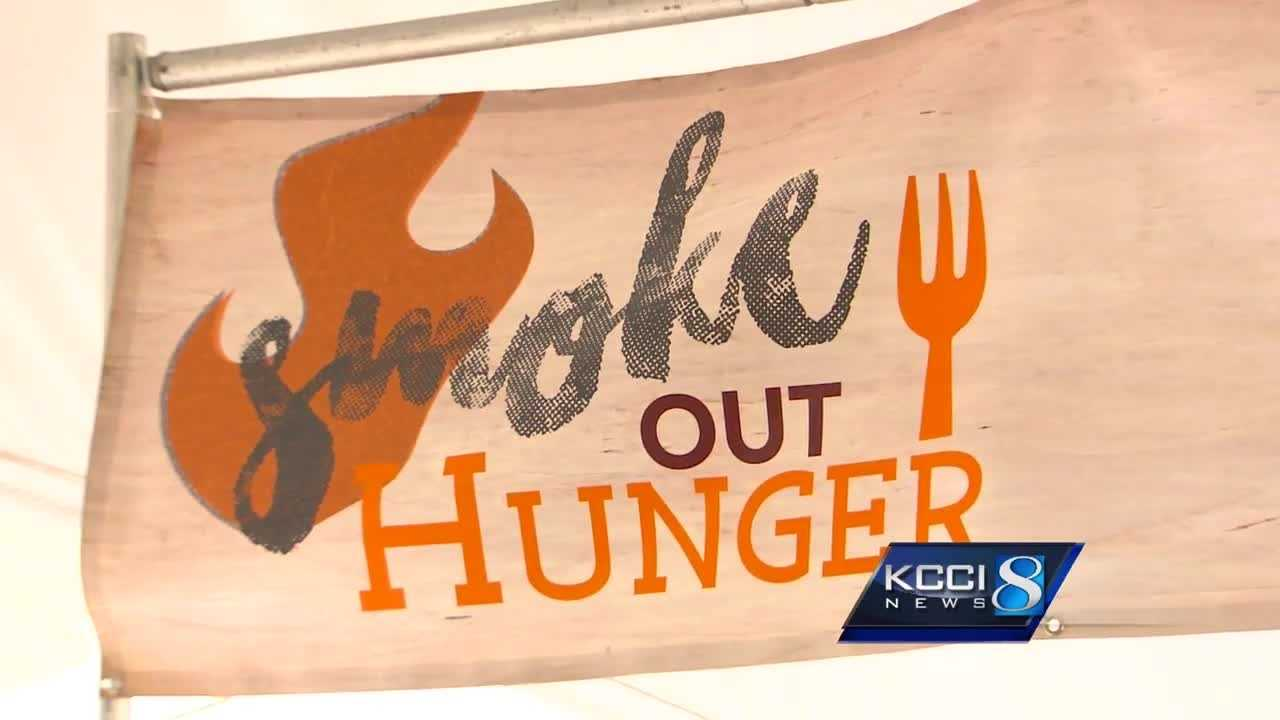 Hundreds attended the inaugural Smoke Out Hunger event – an effort to help starving Iowans.