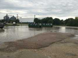 Flash flooding reported in Casey on Monday morning.