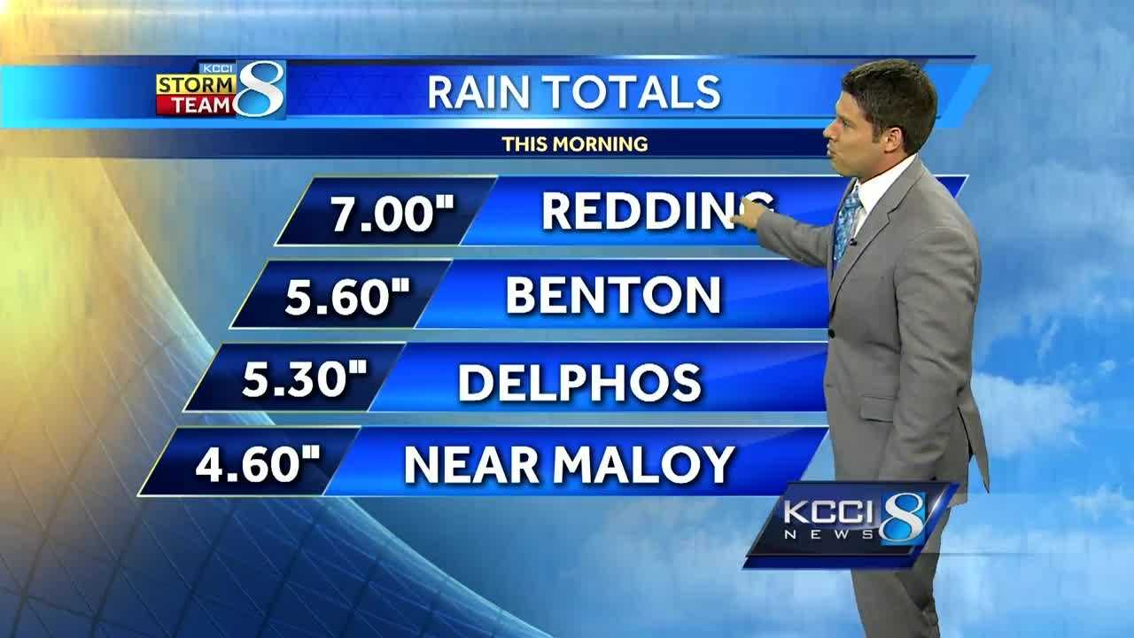 NEW rainfall totals top 7 inches in Iowa right now