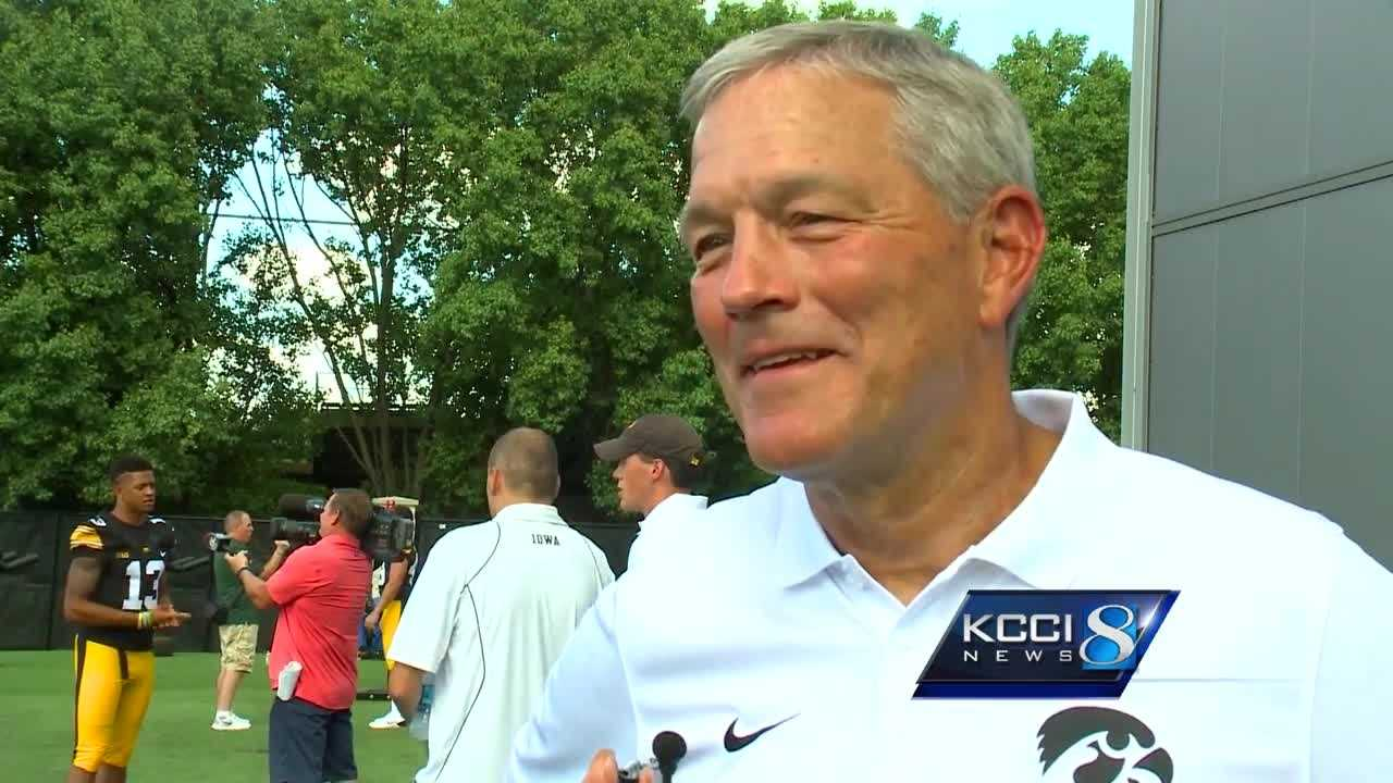 Kirk Ferentz answers eight random questions for KCCI's Scott Reister.