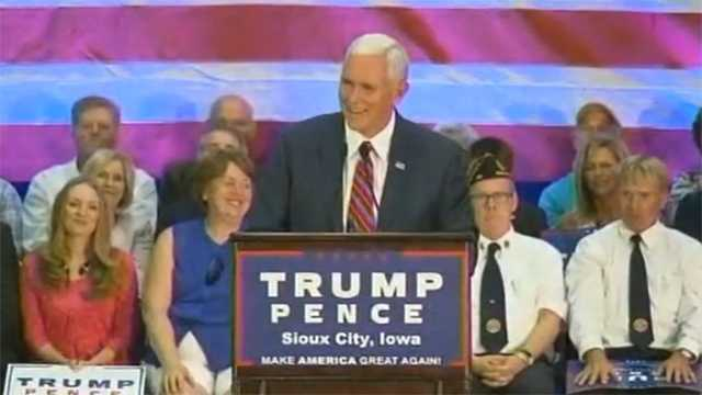 Gov. Mike Pence in Sioux City, Iowa.