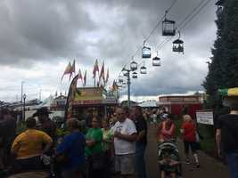 Day 2 at the Iowa State Fair.  A rainy and cloudy day.