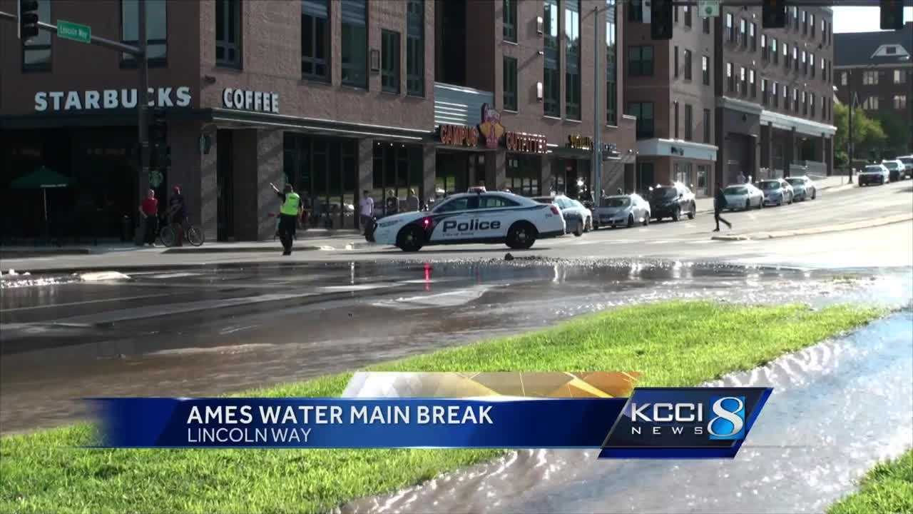 A massive Ames water main break made a huge mess in Campustown Sunday afternoon.