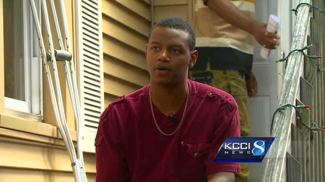 Davion Barber told KCCI Tuesday what he remembers from that deadly morning.