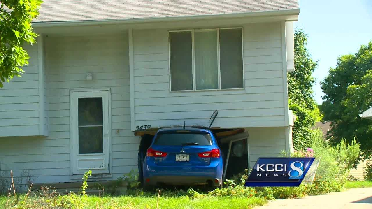 Neighbors were shocked when the driver of a blue SUV rammed into a house Tuesday night.