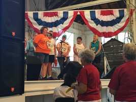 Winner of the Iowa State Fair husband calling contest.