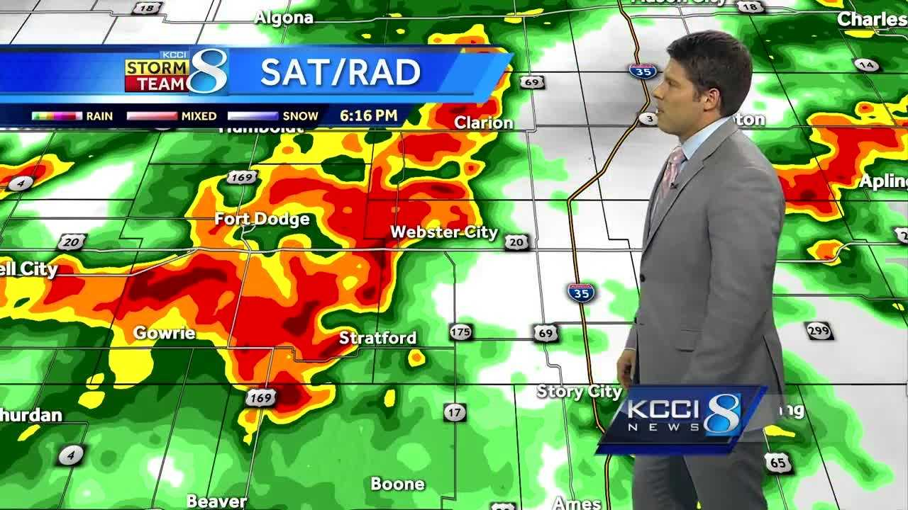 Videocast: Storms developing in western Iowa