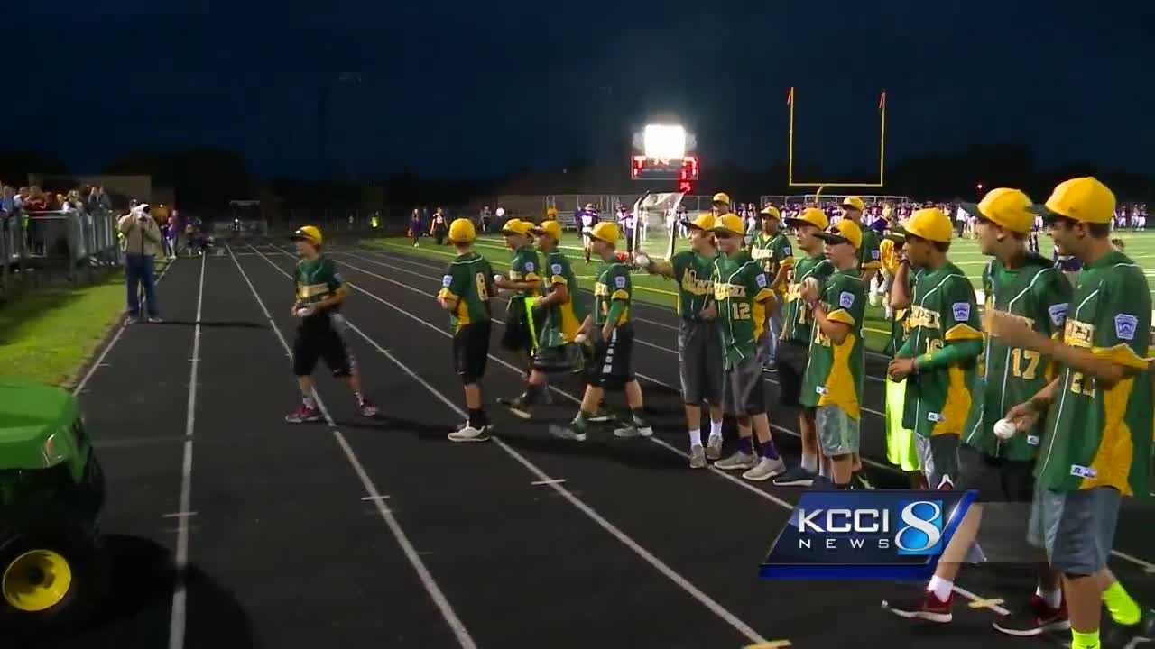 The Johnston Little Leaguers make an appearance in Week One!