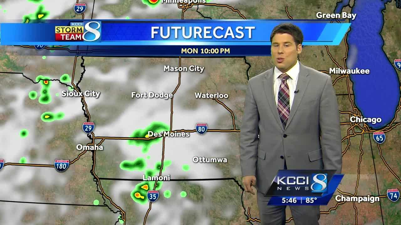 Videocast: Storms developing in SW Iowa, moving east
