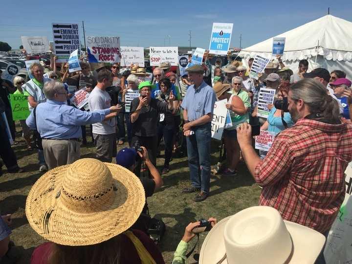 A Bakken pipeline protest on Aug. 31 near Boone, Iowa.